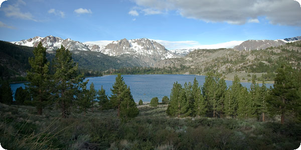 Views of June Lake and Carson Peak from Oh! Ridge
